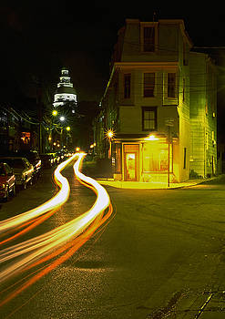 Cars Passing in Annapolis by Paul Pobiak