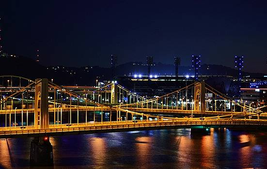 Carson Bridge at Night by William Bartholomew