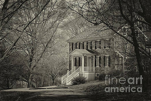 Carter Archer Mansion Black and White by Karen Adams