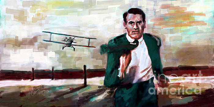 Cary Grant North by Northwest Crop Duster by Ginette Callaway
