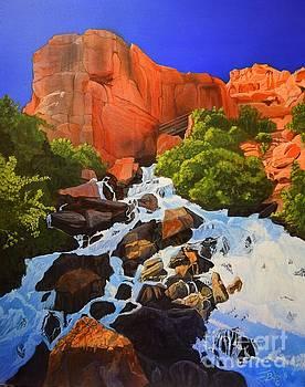 Cascade Falls Zion by Jerry Bokowski