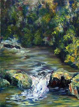 Cascade in th Woods by Elaine Bailey
