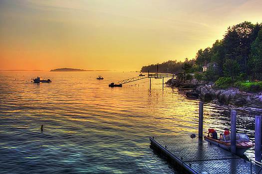 Casco Bay Portland Maine Sunrise by Joann Vitali