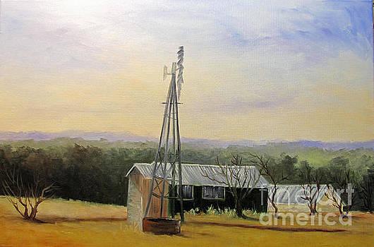 Case Ranch Buildings by Barbara Haviland