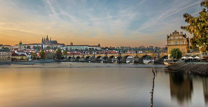 Castle and Charles Bridge Prague -Art  by Fabio Gomes Freitas