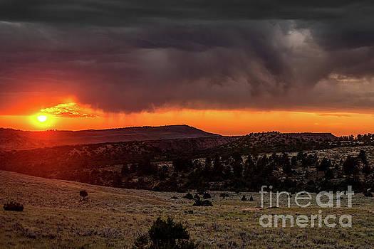 Casper Mountain Sunset - Wyoming by Gary Whitton