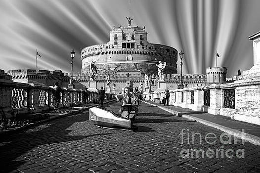 Castel Sant Angelo with Celo in Rome - Italy by Stefano Senise