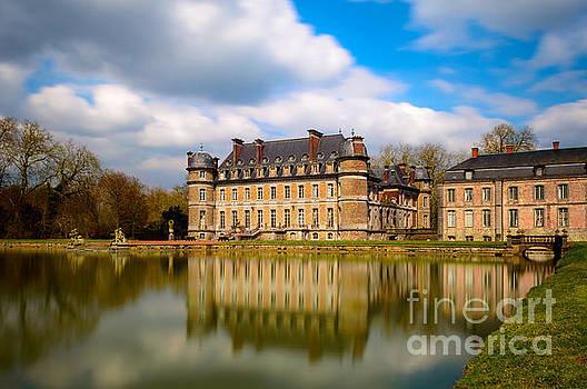 Castle and its Water Reflection, Beloeil by Sinisa CIGLENECKI