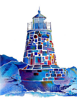 Castle Hill Newport Lighthouse by Jo Lynch