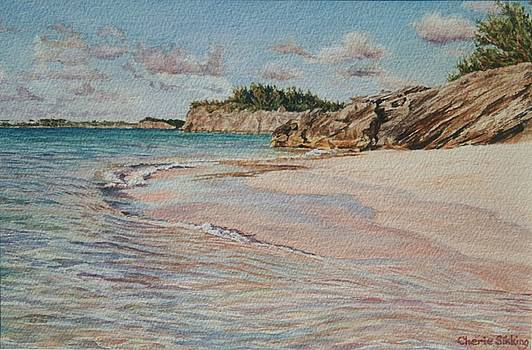 Castle Islands beach Bermuda by Cherie Sikking