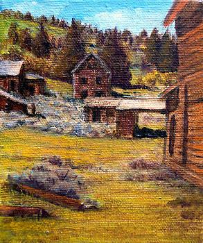 Castle Montana Ghosttown by Evelyne Boynton Grierson
