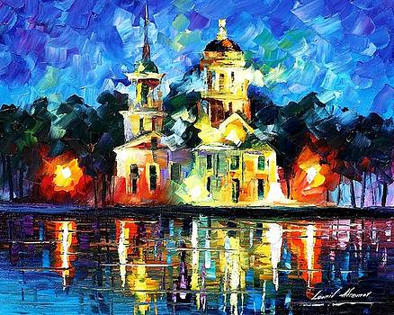 Castle Of The Kings - PALETTE KNIFE Oil Painting On Canvas By Leonid Afremov by Leonid Afremov