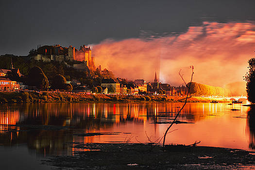 Castle on Fire by Baptiste De Izarra