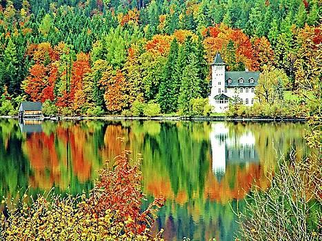 Castle on the Lake, Lake District, Salzburg, Austria by Joseph Hendrix