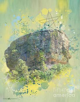 Castle rock Teal Splatter by Trisha French