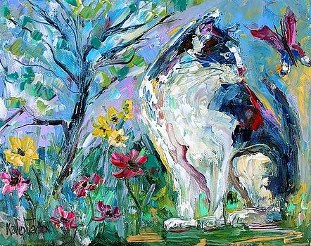 Cat and Butterfly by Karen Tarlton