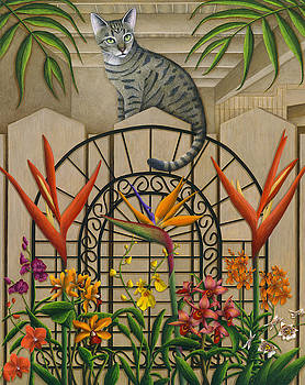 Cat Cheetah's Fence by Carol Wilson