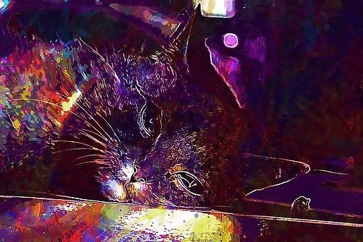 Cat Chili Peppers Mackerel Mieze  by PixBreak Art