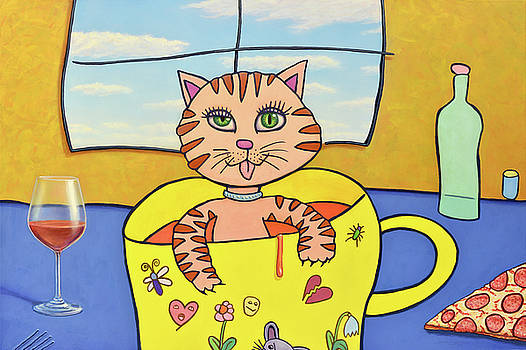 Cat in a Cup by James W Johnson