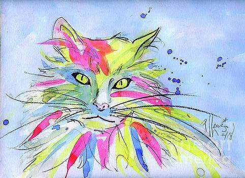 Cat Of Many Colors by PJ Lewis