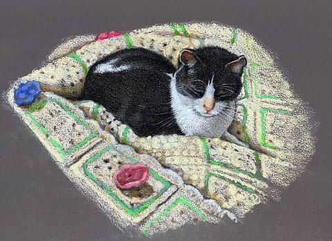 Joyce Geleynse - Cat on Afghan