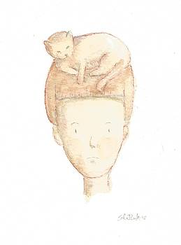 Cat On My Head by Silvia Beneforti