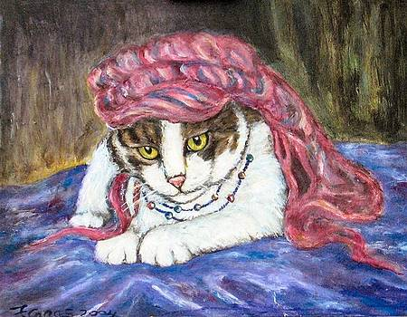 Tabby Cat with Yellow Eyes by Frances Gillotti