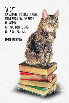 Cat Quote by Ernest Hemingway by Zapista Zapista