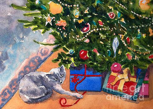 Cat with Presents by Katie Cornog