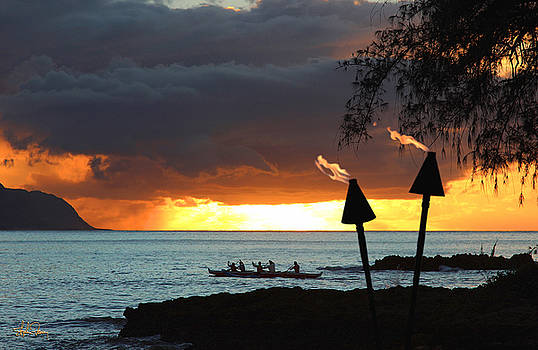 Catamaran Ride Hawaiian Style by Stephen Fanning