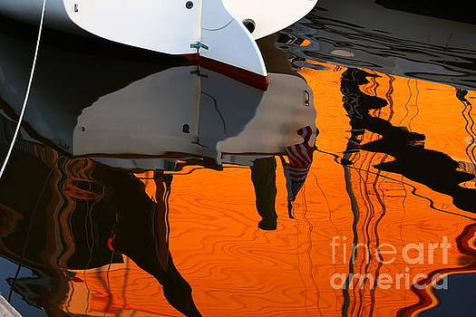 Catboat Reflection by Marty Fancy