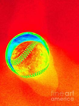 Heat Map Baseball Catch Me If You Can by Richard W Linford