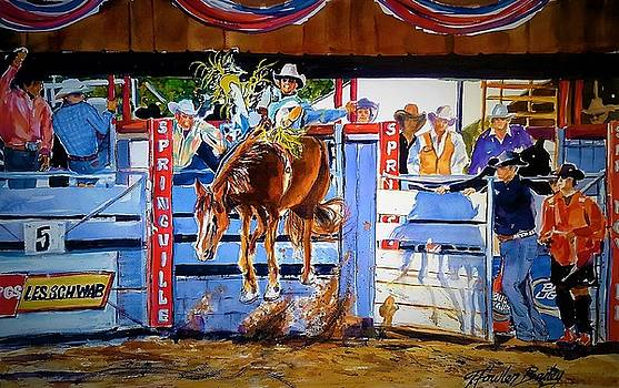 Catching Air at Springville Rodeo by Therese Fowler-Bailey