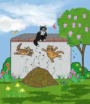 Tabby Cats Falling by Frances Gillotti