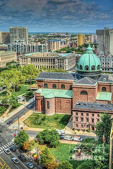 Cathedral Basilica of Saints Peter and Paul Philadelphia  by David Zanzinger