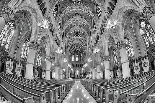 Cathedral Basilica of the Sacred Heart 1 bw by Jerry Fornarotto
