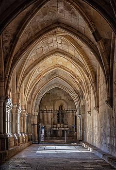 Cathedral Cloister Tarragona Spain by Joan Carroll