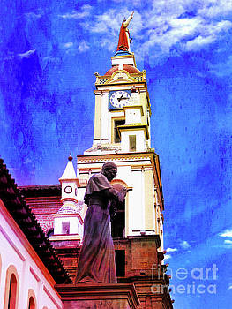 Cathedral In Cotacachi, Ecuador by Al Bourassa