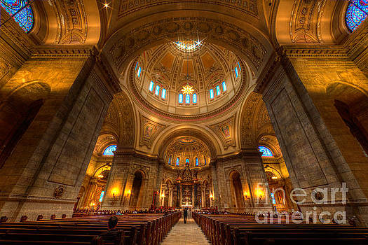 Wayne Moran - Cathedral of St Paul Wide Interior St Paul Minnesota