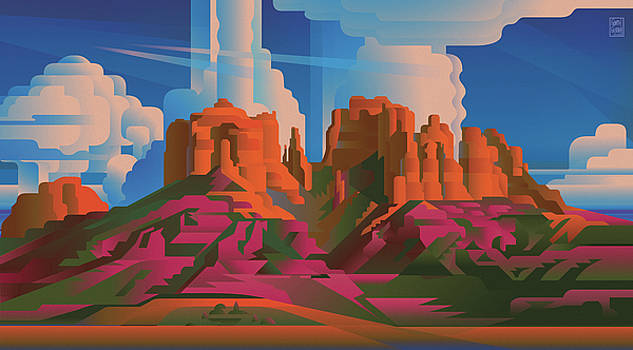 Garth Glazier - CATHEDRAL ROCK Arizona