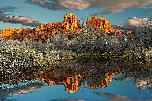 Cathedral Rock Cloud reflection  3 by Tom Clark