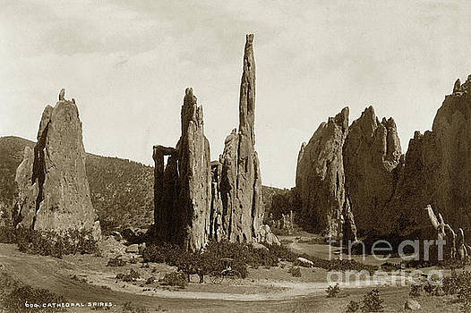 California Views Archives Mr Pat Hathaway Archives - Cathedral Spires. Garden of the Gods, Colorado circa 1885