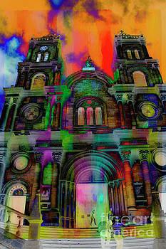 Catholic Church At Chordeleg, Ecuador by Al Bourassa