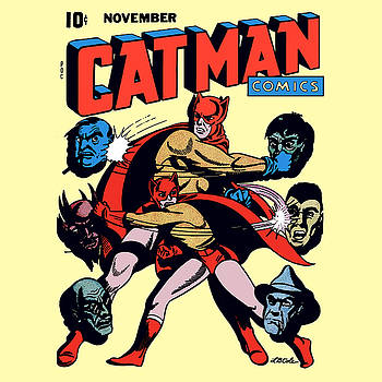 Catman and Kitten Square Format by Joy McKenzie
