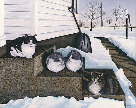 Cats - Jake's Mousers by Carol Wilson