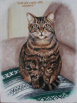Cats Are Angels With Whiskers by Rebecca Steelman