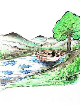 Cat's Boat by Teresa White