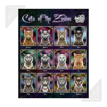 Cats of the Zodiac by Annie Dunn