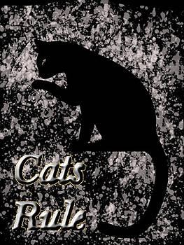 Cats Rule - T-Shirt Design by Pat625 by Tin Tran