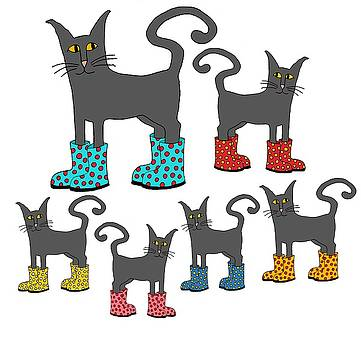 Cats with Boots by Sarah Rosedahl